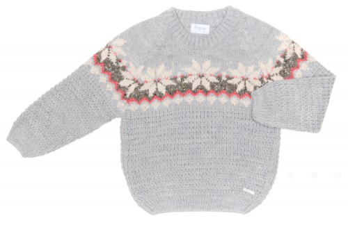 Boys Gray Knitted Sweater