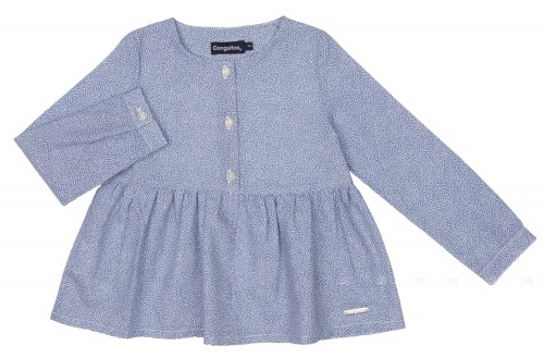 Girls Blue Cotton Blouse