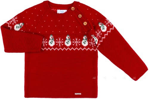 Foque Boys Red Knitted Sweater