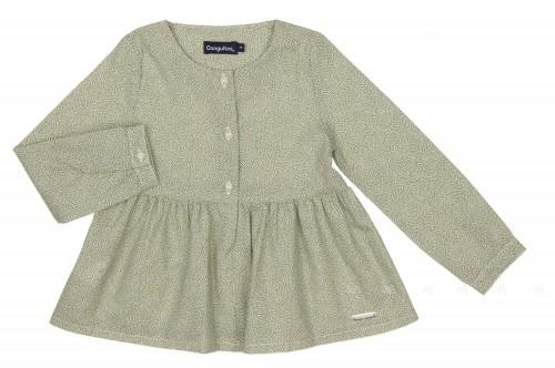 Girls Khaki Cotton Blouse
