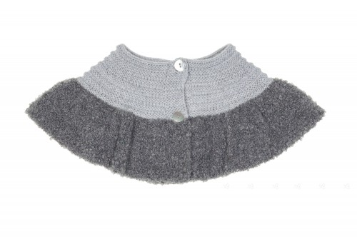 Girls Grey Knitted Bouclé Shrug