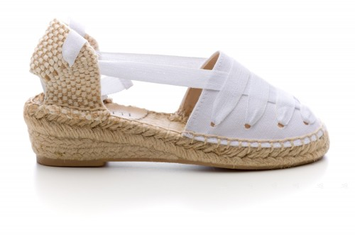 Girls White Espadrille Sandals