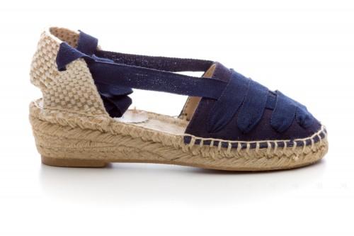 Girls Navy Blue Espadrille Sandals