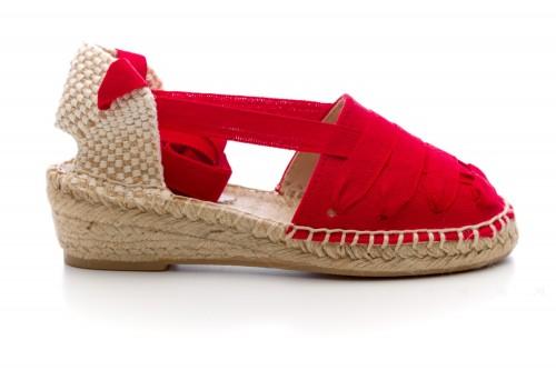 Girls Red Espadrille Sandals
