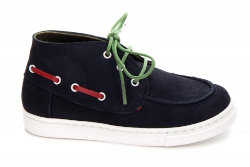 Boys Navy Suede Sneakers