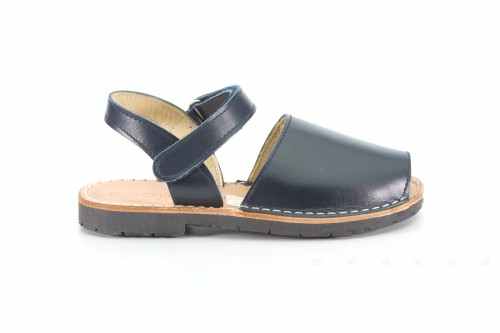 Blue Leather Traditional Menorcan Sandals Abarcas