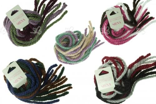 Wool cord hair ties 6 piece pack