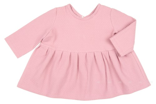 Dusky Pink Cotton Tunic Top with Satin Bow