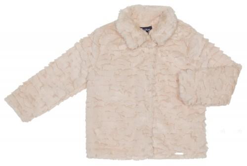 Girls Ivory Plush Jacket