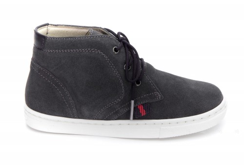 Boys Gray Suede Sneakers