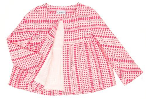 Coral Pink & Ivory Jacket