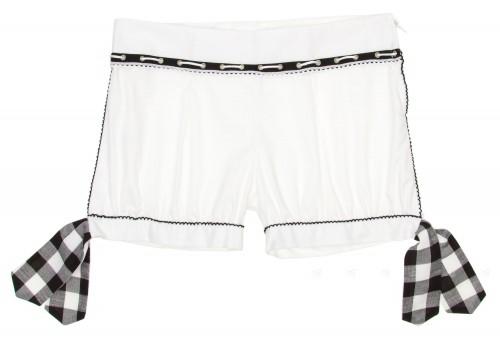 White Shorts With Black Trim