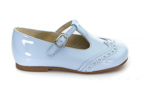 Blue Patent Mary Janes