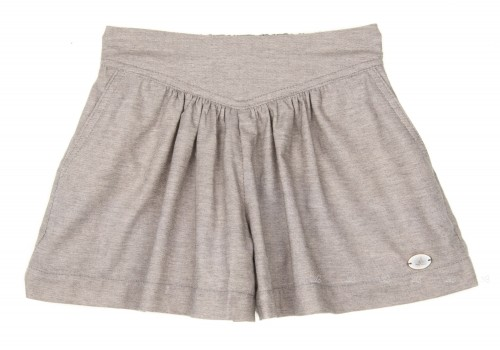 Gray Wide Shorts with Pockets