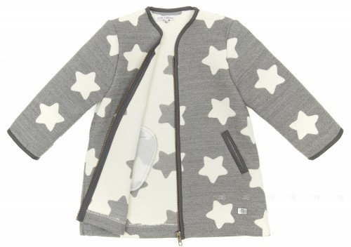 Gray & White Wool Star Jacket