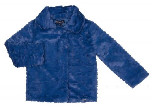 Girls Blue Plush Jacket