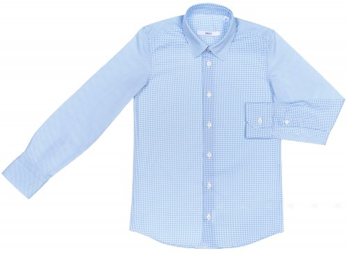 Boys White & Blue Spotted Shirt