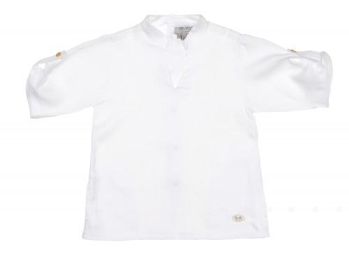 Boys Ivory Linen Shirt