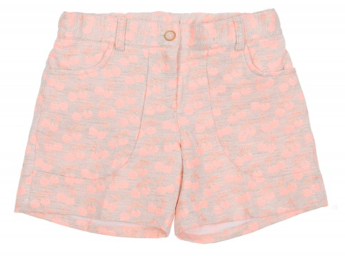 Pink & Silver Cherry Print Shorts