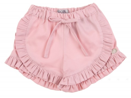 Pale Pink Shorts with Frills
