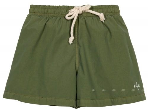 Boys Khaki Green Swim Shorts