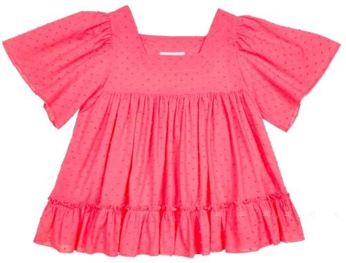 Girls Coral Pink Sun Dress