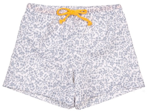 Boys Grey Floral Print Swim Shorts