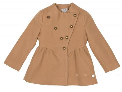 Girls Beige Mouflon Coat