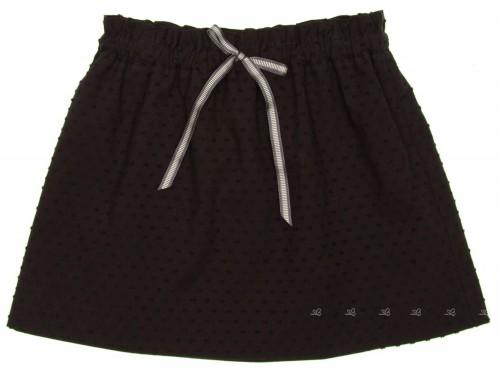 Black Polka Dot Cotton Skirt