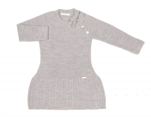 Ligth Gray Knitted Dress