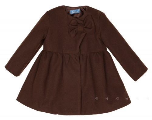 Girls Chocolate Coat With Bow