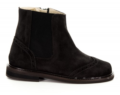Girls Chocolate Suede Boots