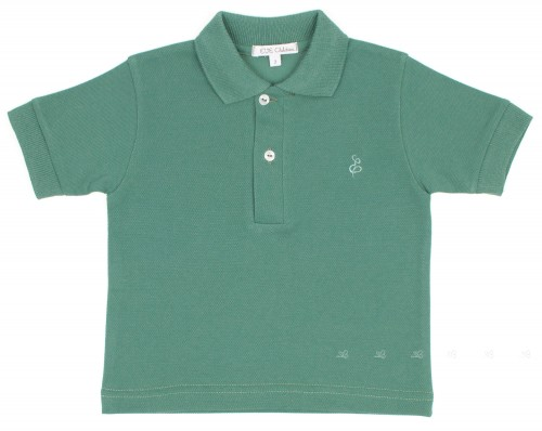 Green Pique Jersey Polo Shirt