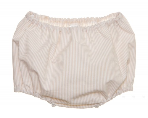 Ivory & Beige Cotton Striped Knickers