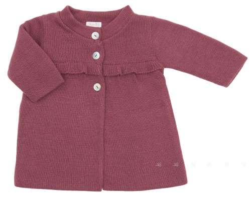 Baby Burgundy Pink Knitted Coat