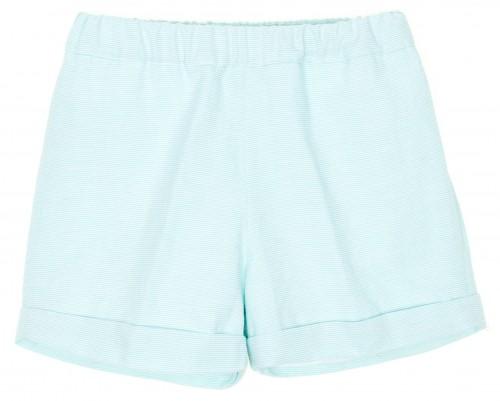 Boys Aqua Green & White Striped Shorts