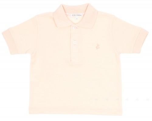Peony Pink Pique Jersey Polo Shirt