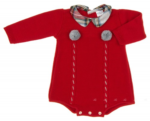 Baby Red &Tartan Knitted Shortie