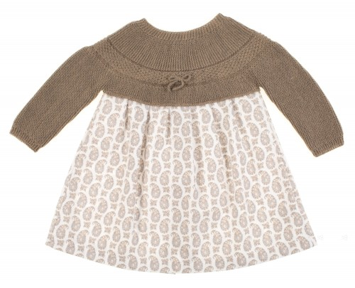 Baby girls brown dress