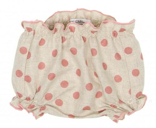 Baby Beige & Dusky Pink Polka Dot Knickers