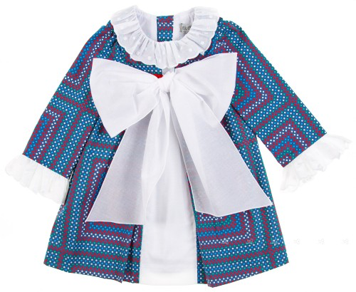 Vestido Estampado Geométrico Maxi Lazada