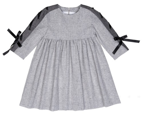 Girls Grey & Black Dress