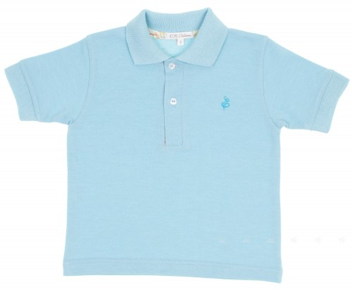 Turquoise Pique Jersey Polo Shirt