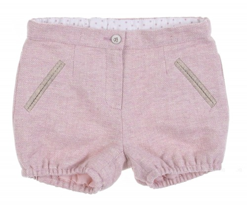 Powder Pink Cheviot Shorts