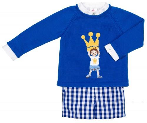 Eva Castro Baby Conjunto Niño Camisa, Short & Jersey Gabrielle