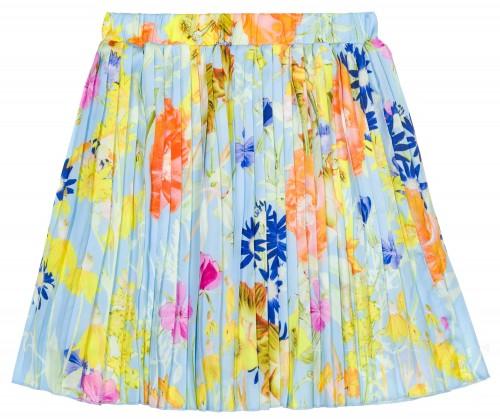 Byblos Falda Niña Plisada Estampado Floral Multicolor