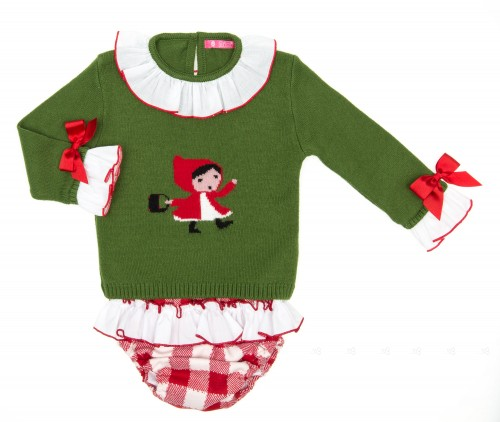 Green & Red Little Red Riding Hood 2 Piece Set