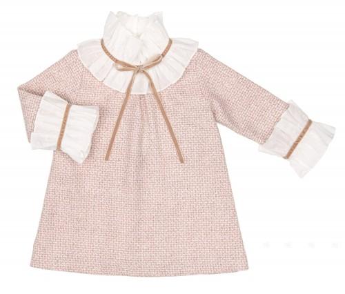 Pale Pink & Ivory Tweed Dress