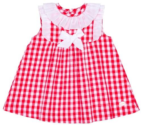 Girls Red & White Gingham Dress