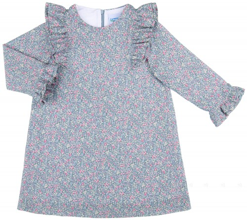 Girls Blue & Pink Liberty  Dress